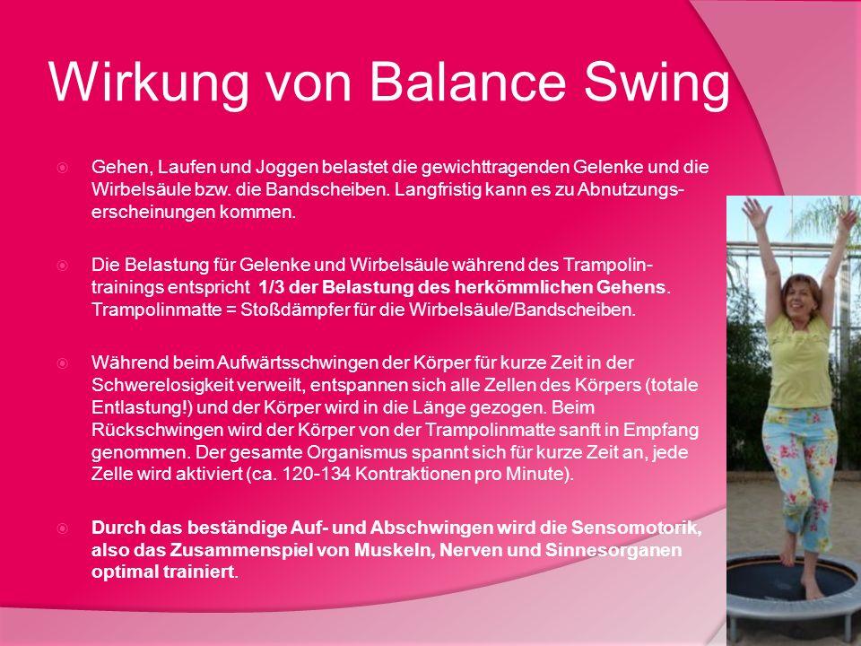 Wirkung von Balance Swing
