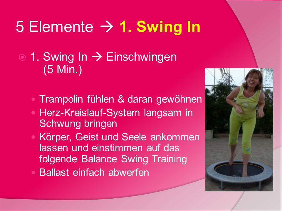 5 Elemente  1. Swing In 1. Swing In  Einschwingen (5 Min.)