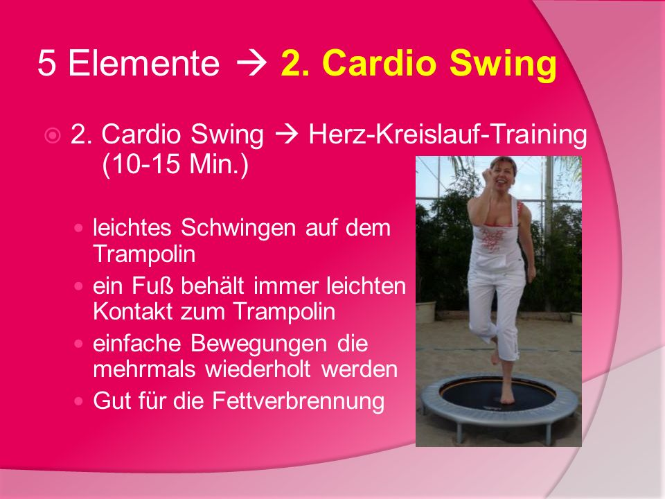 5 Elemente  2. Cardio Swing