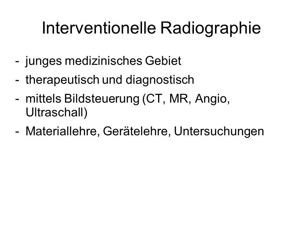 Interventionelle Radiographie
