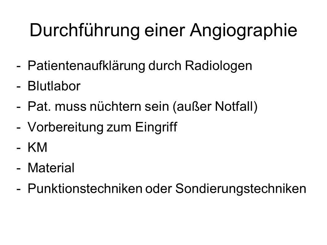 Durchführung einer Angiographie