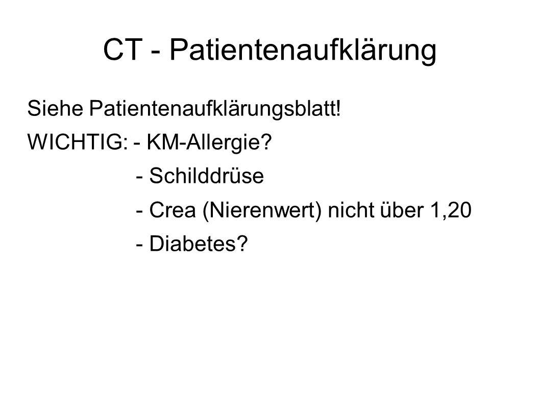 CT - Patientenaufklärung