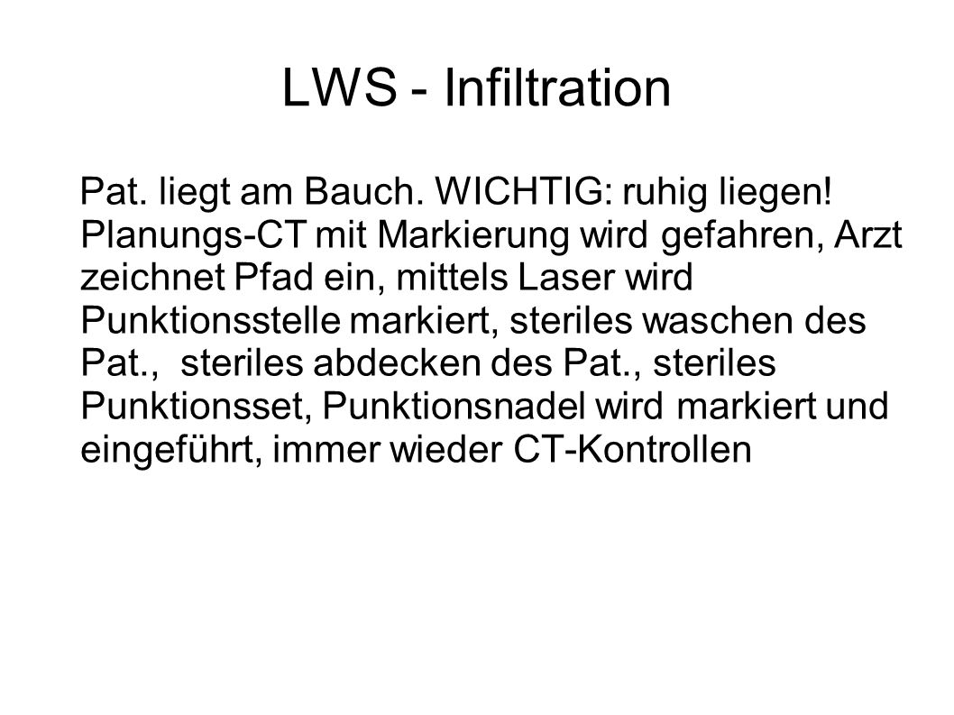 LWS - Infiltration