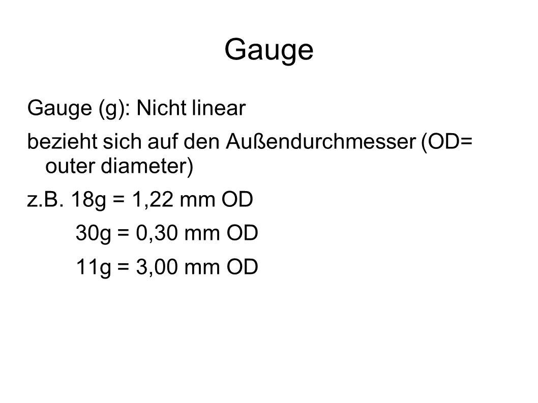 Gauge Gauge (g): Nicht linear