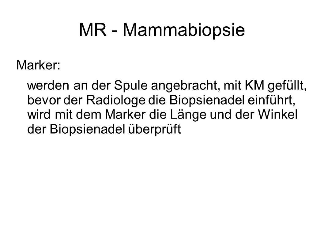 MR - Mammabiopsie Marker: