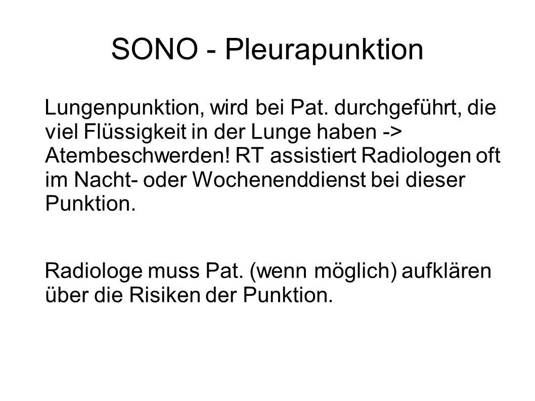 SONO - Pleurapunktion