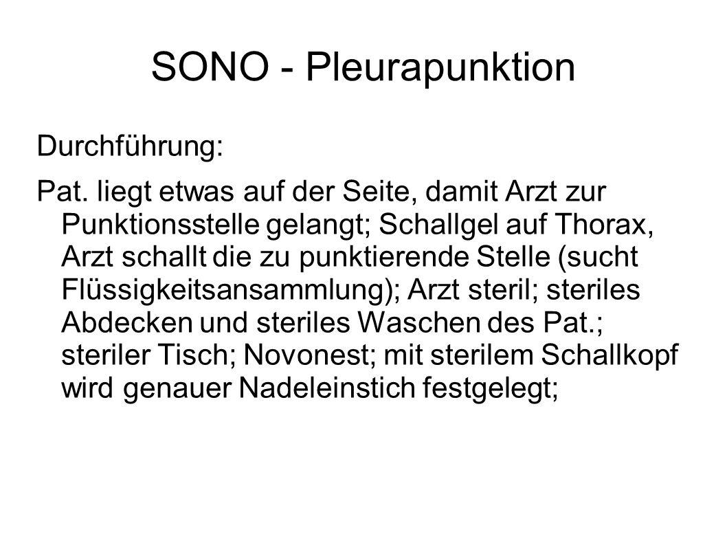 SONO - Pleurapunktion Durchführung: