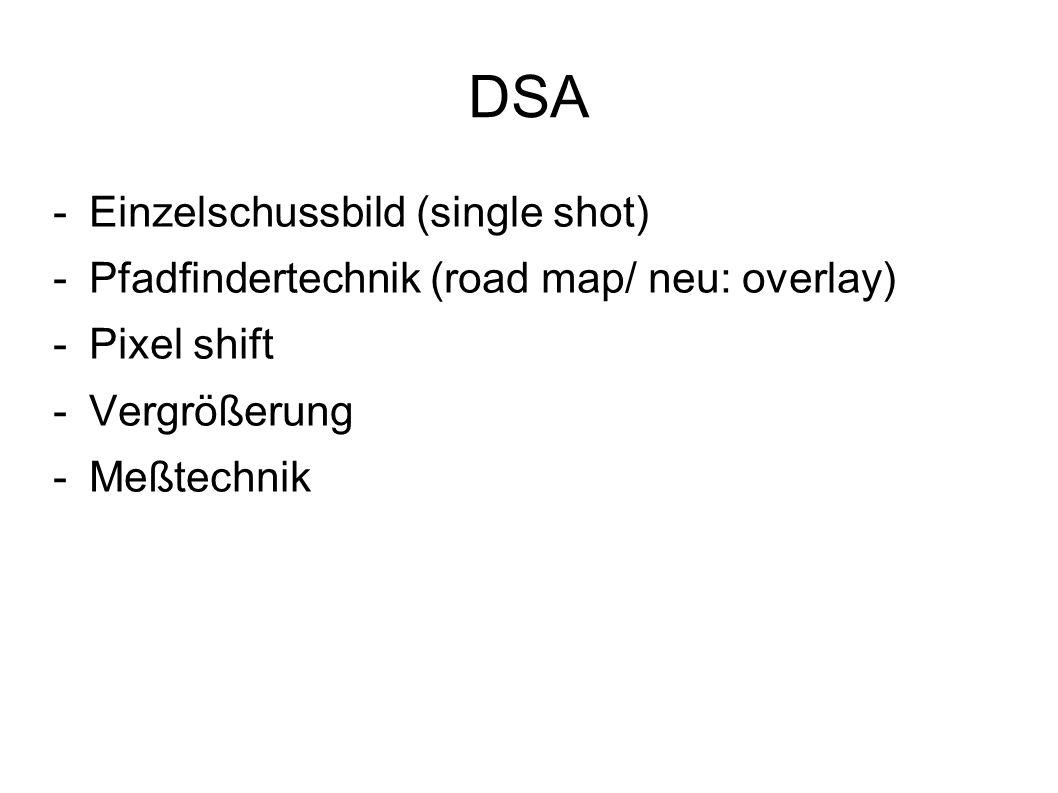 DSA Einzelschussbild (single shot)