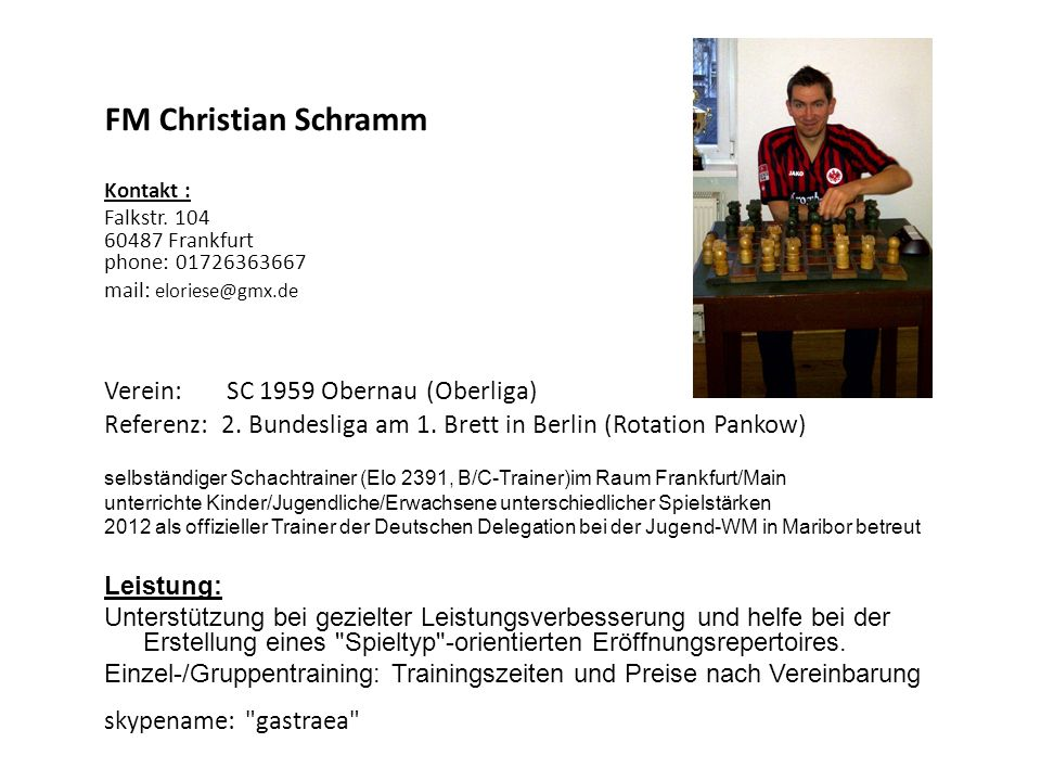 FM Christian Schramm Verein: SC 1959 Obernau (Oberliga)