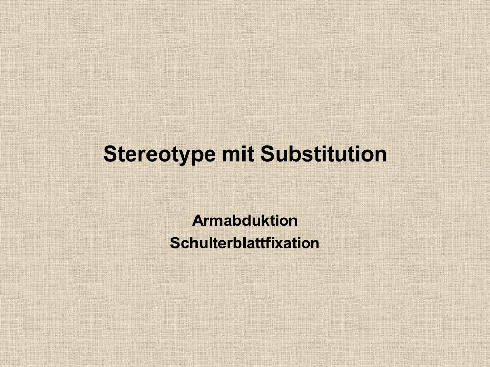 Stereotype mit Substitution