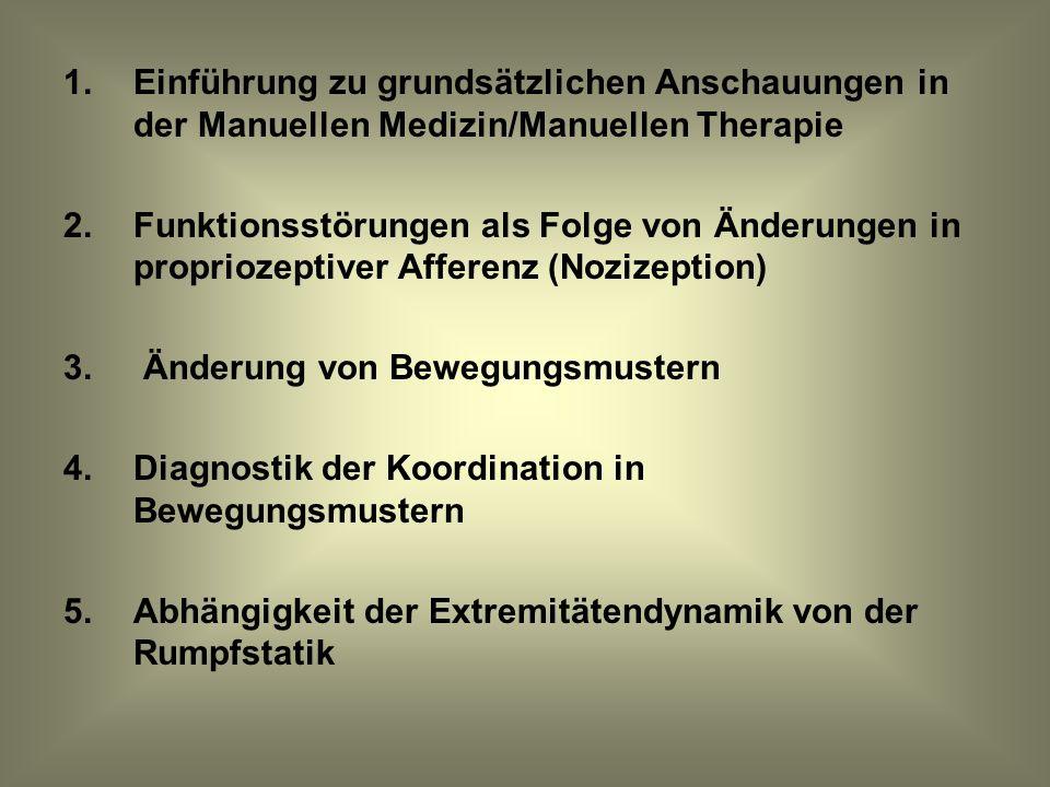 Einführung zu grundsätzlichen Anschauungen in der Manuellen Medizin/Manuellen Therapie