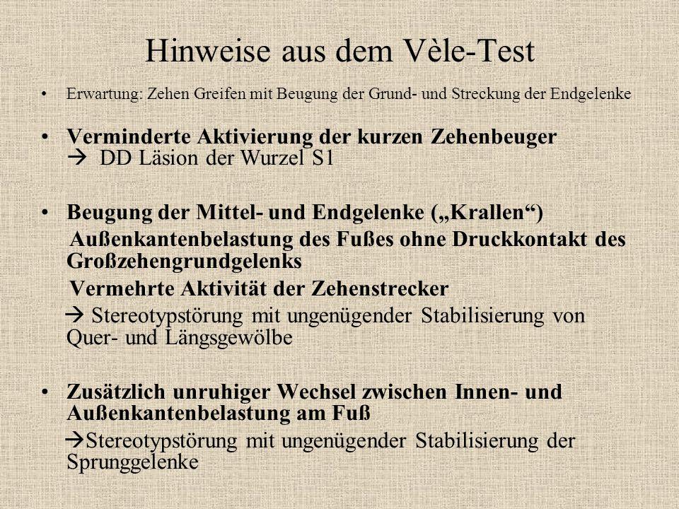 Hinweise aus dem Vèle-Test