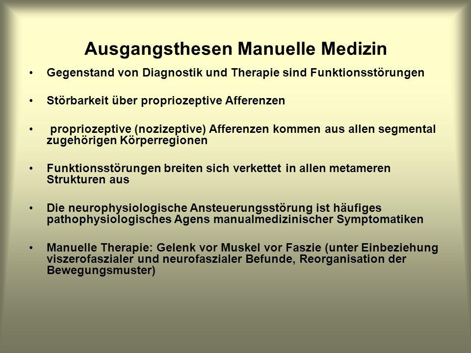Ausgangsthesen Manuelle Medizin