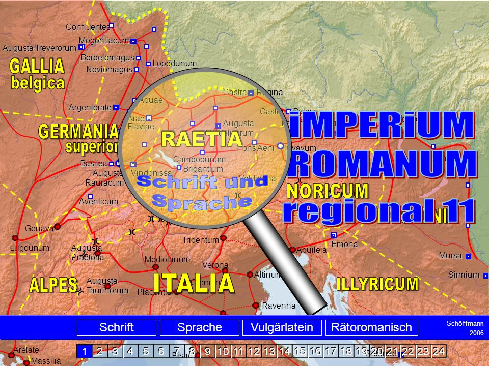 Intro iMPERiUM ROMANUM regional 11 Schrift und Sprache belgica