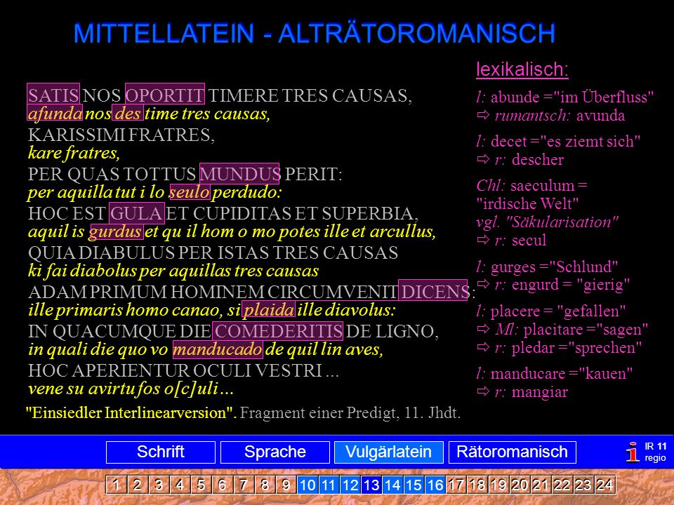 Mittellatein-ARRomanisch1