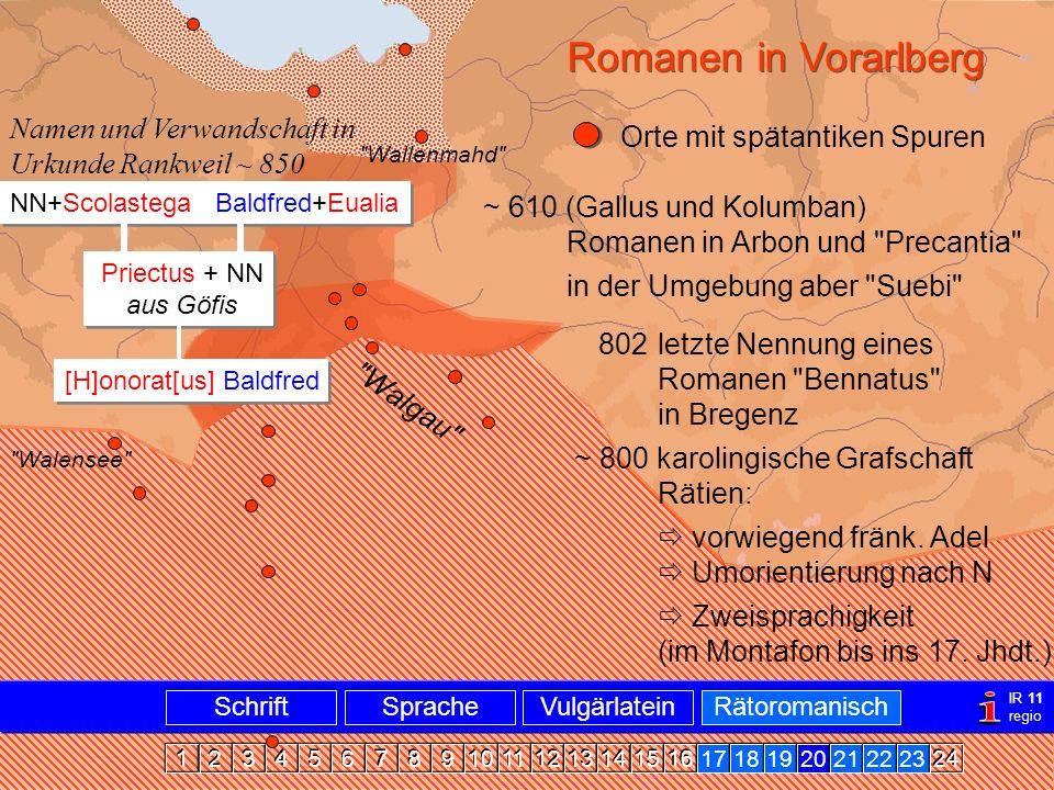 Romanen in Vlbg. i Romanen in Vorarlberg