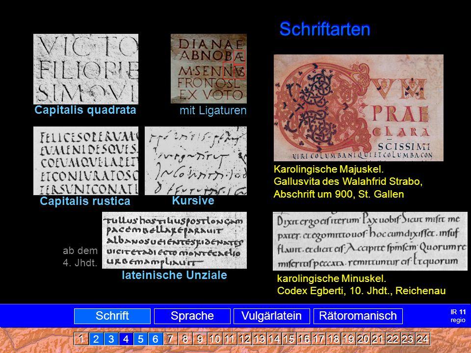 Schriftarten Schriftarten Capitalis quadrata mit Ligaturen
