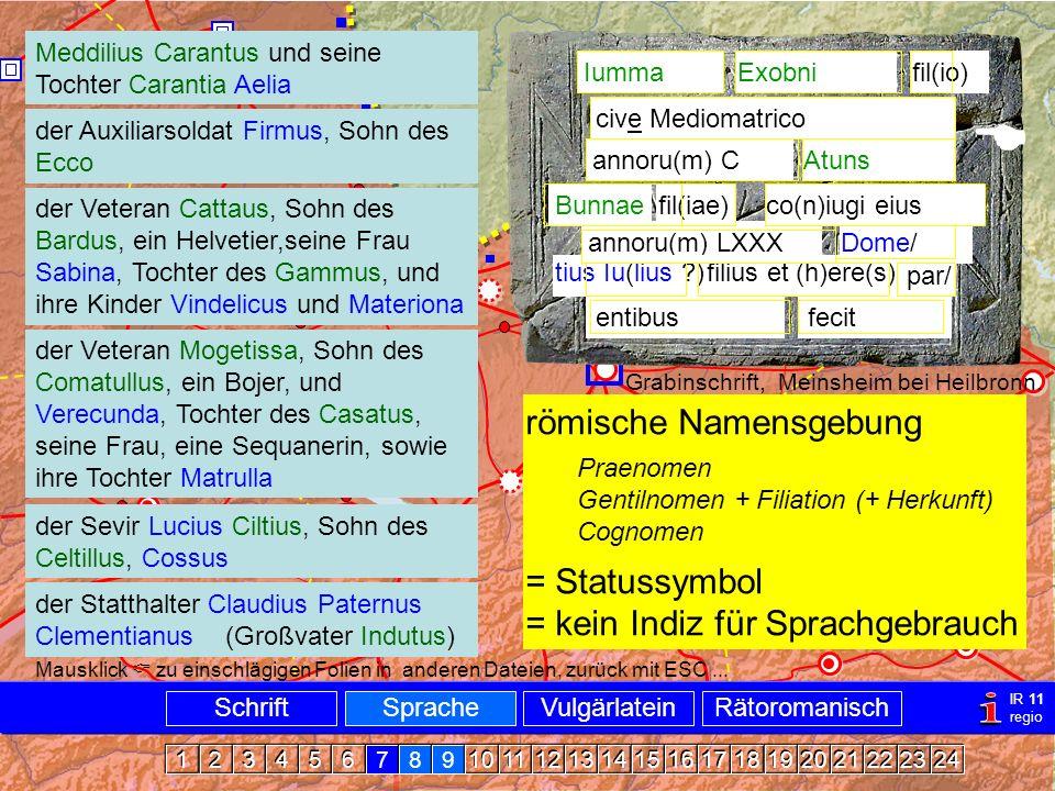 Namen kelt-röm.  i Namensgebung römische Namensgebung