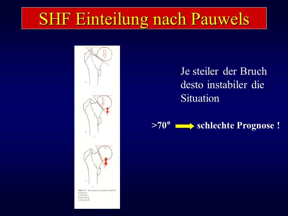 SHF Einteilung nach Pauwels