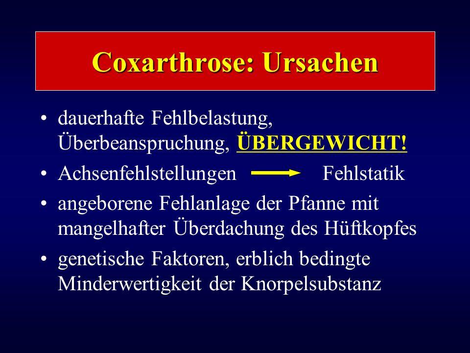 Coxarthrose: Ursachen