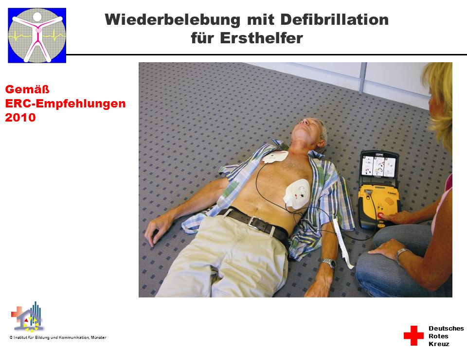 Wiederbelebung mit Defibrillation