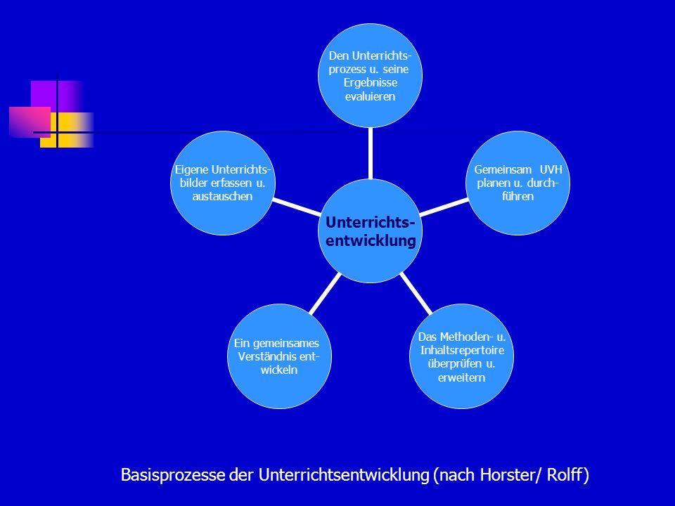 Basisprozesse der Unterrichtsentwicklung (nach Horster/ Rolff)