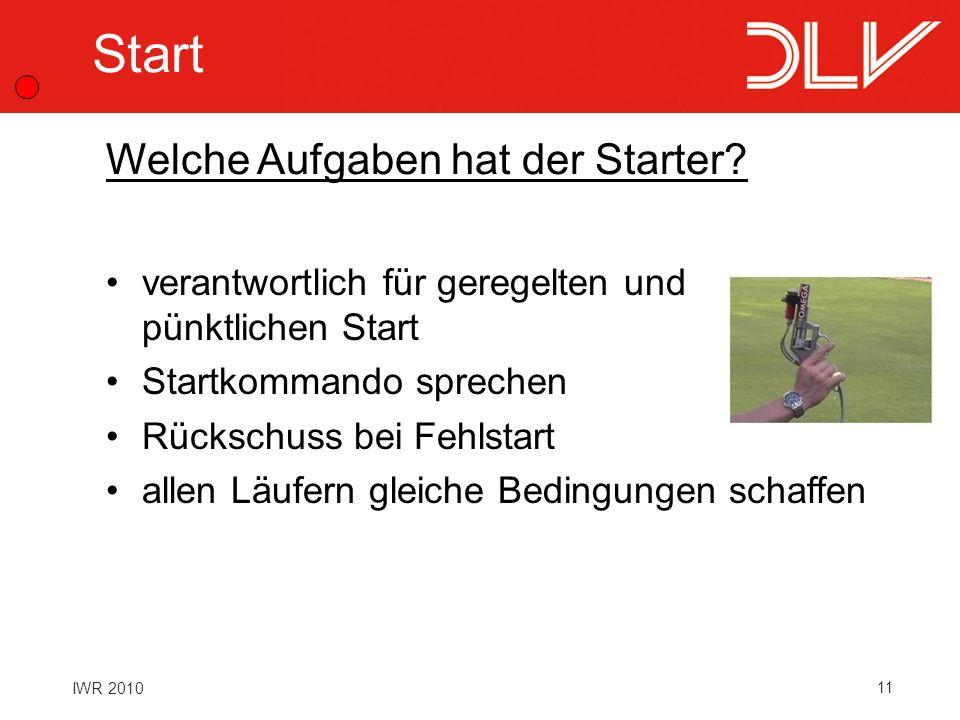 Start Welche Aufgaben hat der Starter