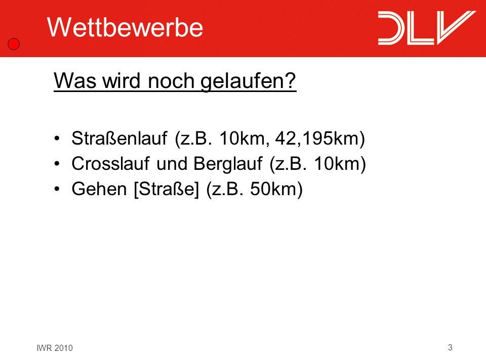 Wettbewerbe Was wird noch gelaufen Straßenlauf (z.B. 10km, 42,195km)