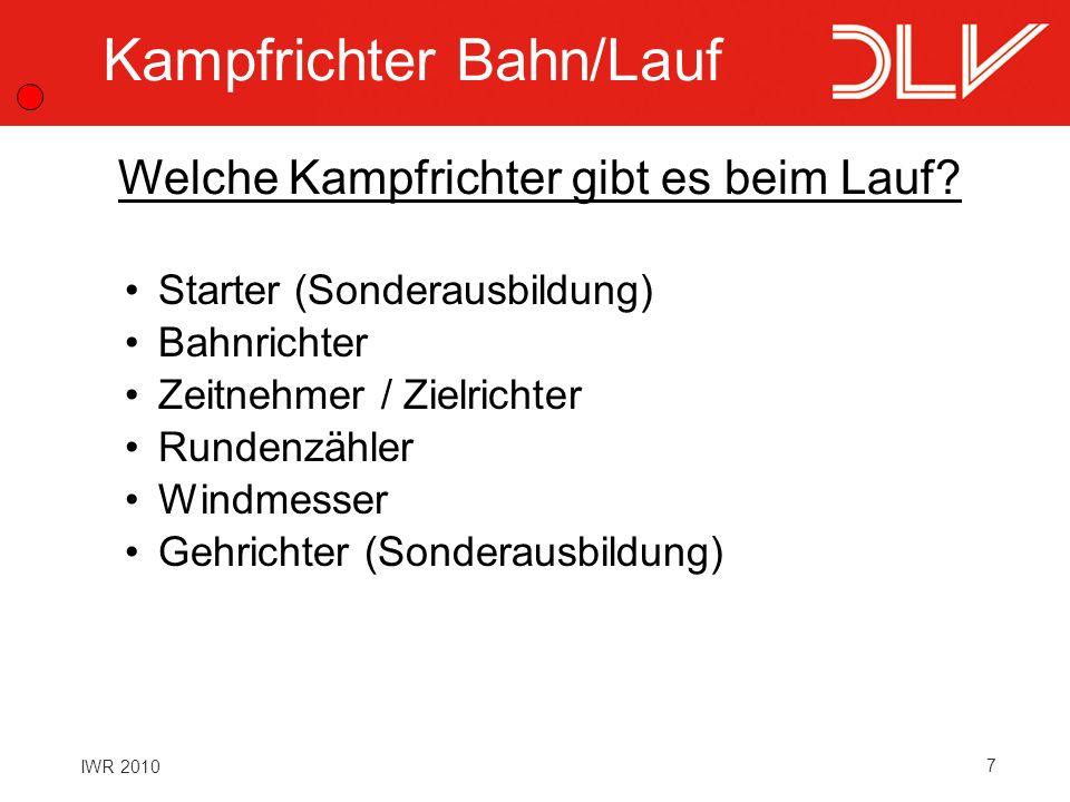Kampfrichter Bahn/Lauf