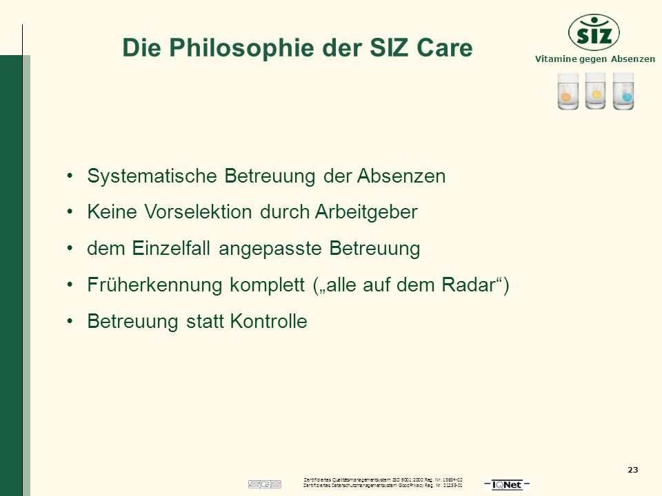 Die Philosophie der SIZ Care