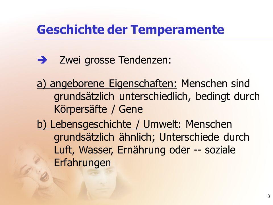 Geschichte der Temperamente