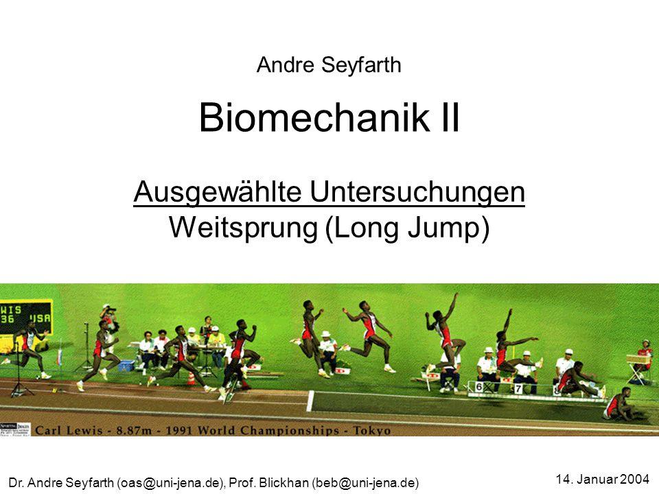Ausgewählte Untersuchungen Weitsprung (Long Jump)