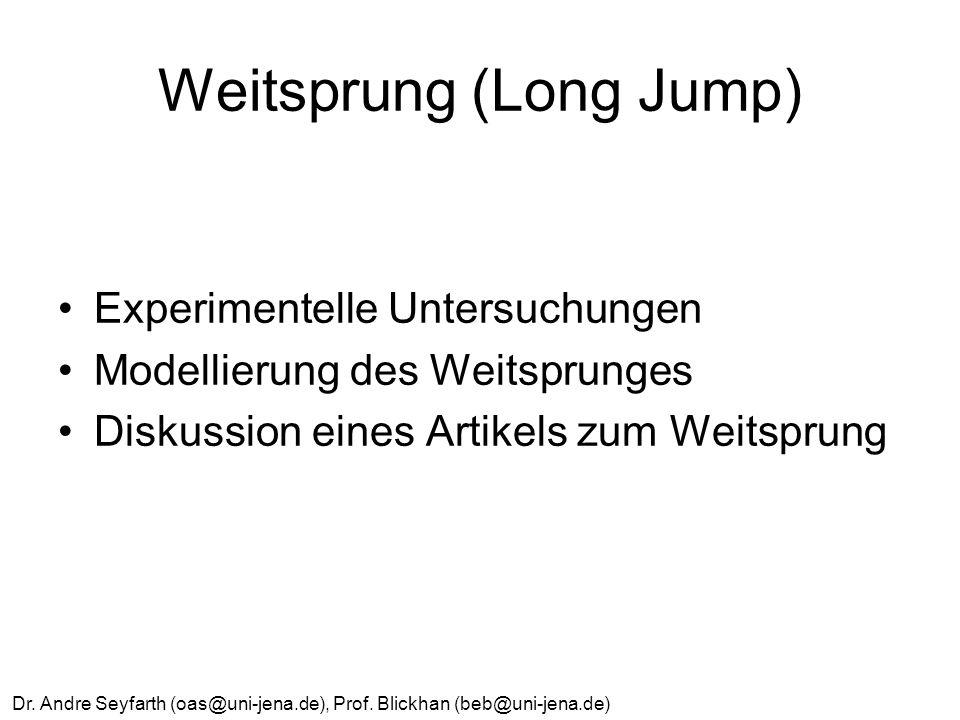 Weitsprung (Long Jump)