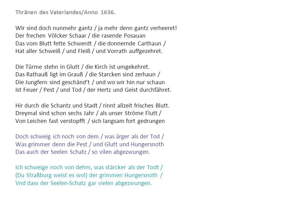 Thränen des Vaterlandes/Anno 1636.