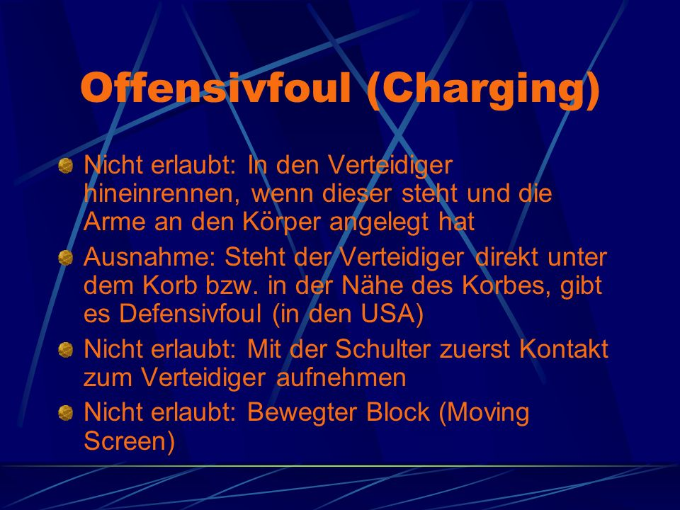 Offensivfoul (Charging)