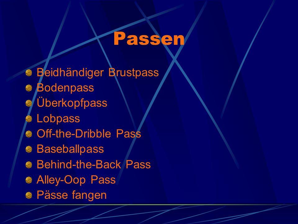 Passen Beidhändiger Brustpass Bodenpass Überkopfpass Lobpass