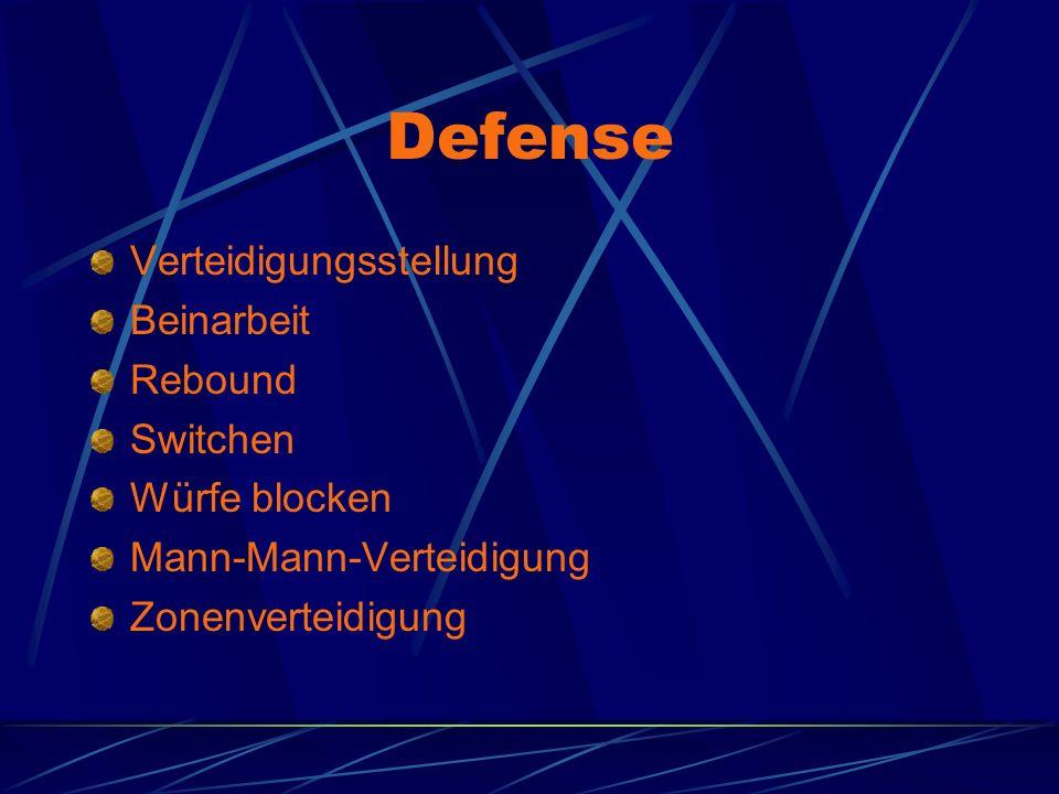 Defense Verteidigungsstellung Beinarbeit Rebound Switchen