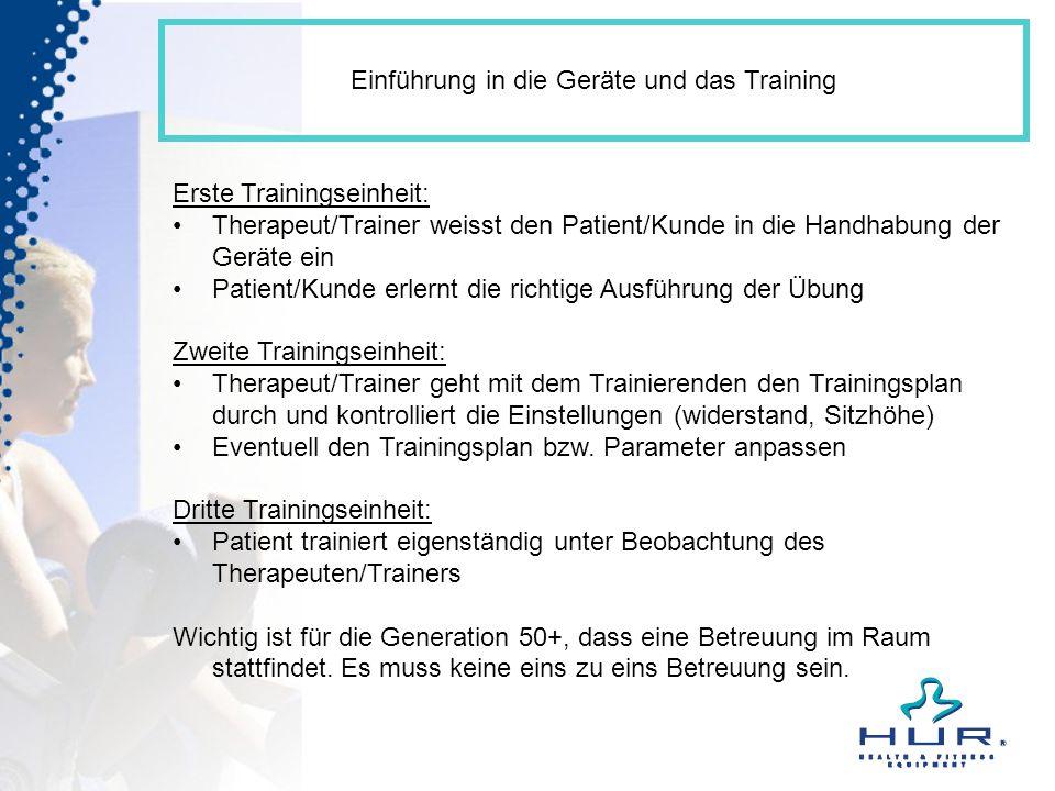 Einführung in die Geräte und das Training