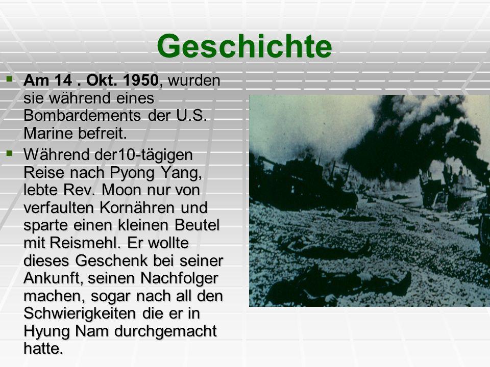 Geschichte Am 14 . Okt. 1950, wurden sie während eines Bombardements der U.S. Marine befreit.
