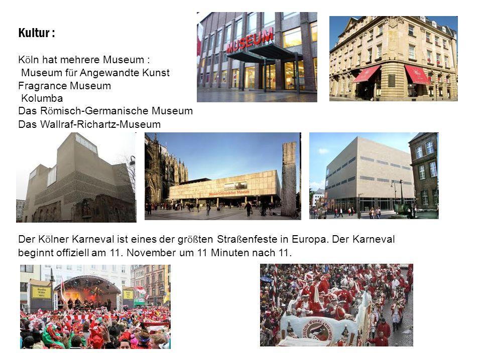 Kultur : Köln hat mehrere Museum : Museum für Angewandte Kunst