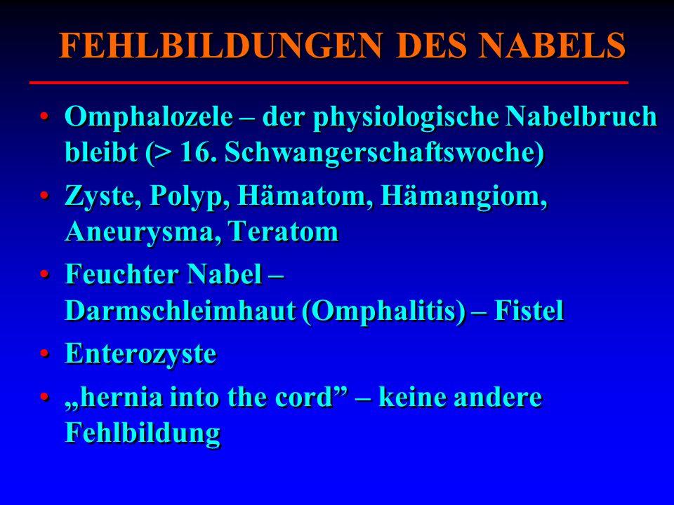 FEHLBILDUNGEN DES NABELS