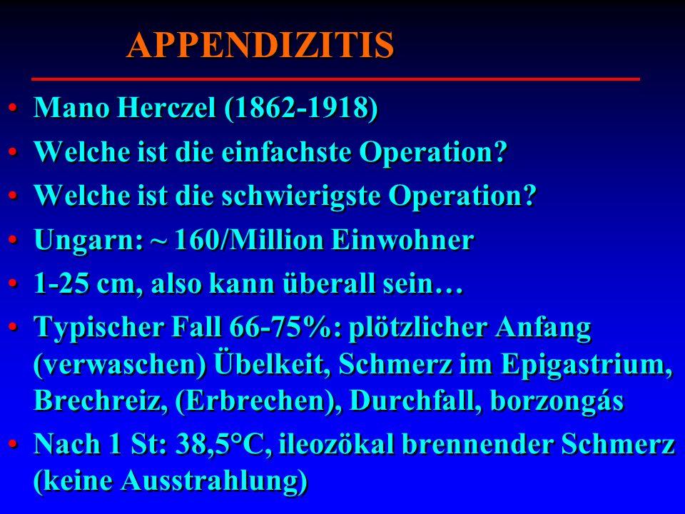 APPENDIZITIS Mano Herczel (1862-1918)