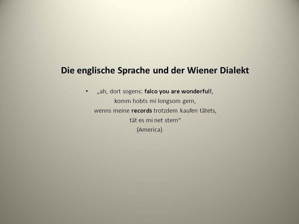 Die englische Sprache und der Wiener Dialekt