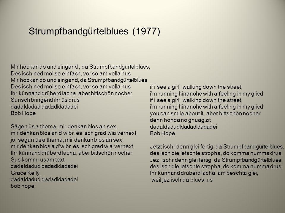 Strumpfbandgürtelblues (1977)