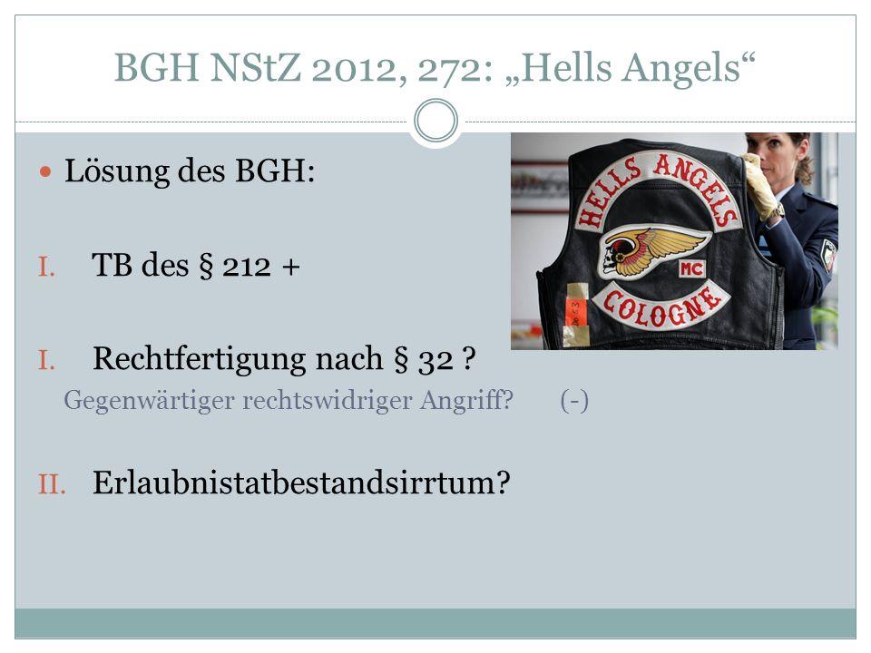 "BGH NStZ 2012, 272: ""Hells Angels"