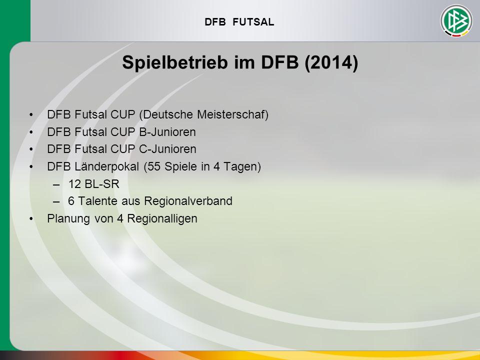 Spielbetrieb im DFB (2014) DFB Futsal CUP (Deutsche Meisterschaf)