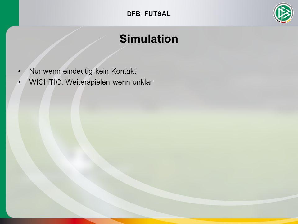 Simulation Nur wenn eindeutig kein Kontakt