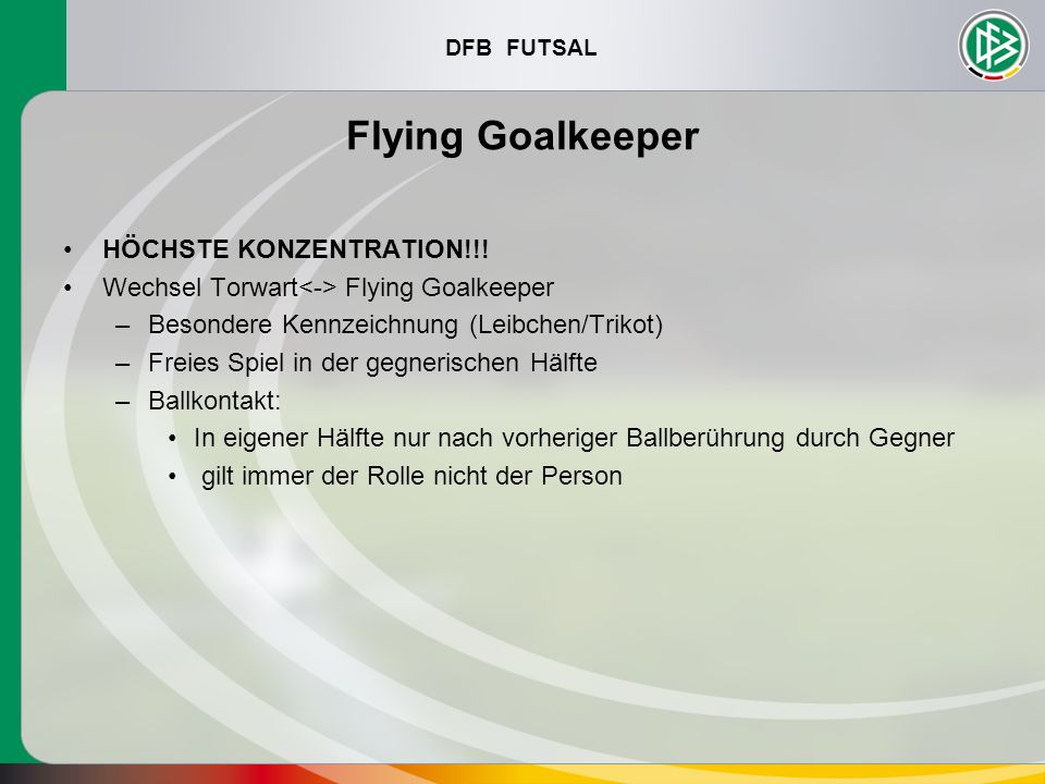 Flying Goalkeeper HÖCHSTE KONZENTRATION!!!