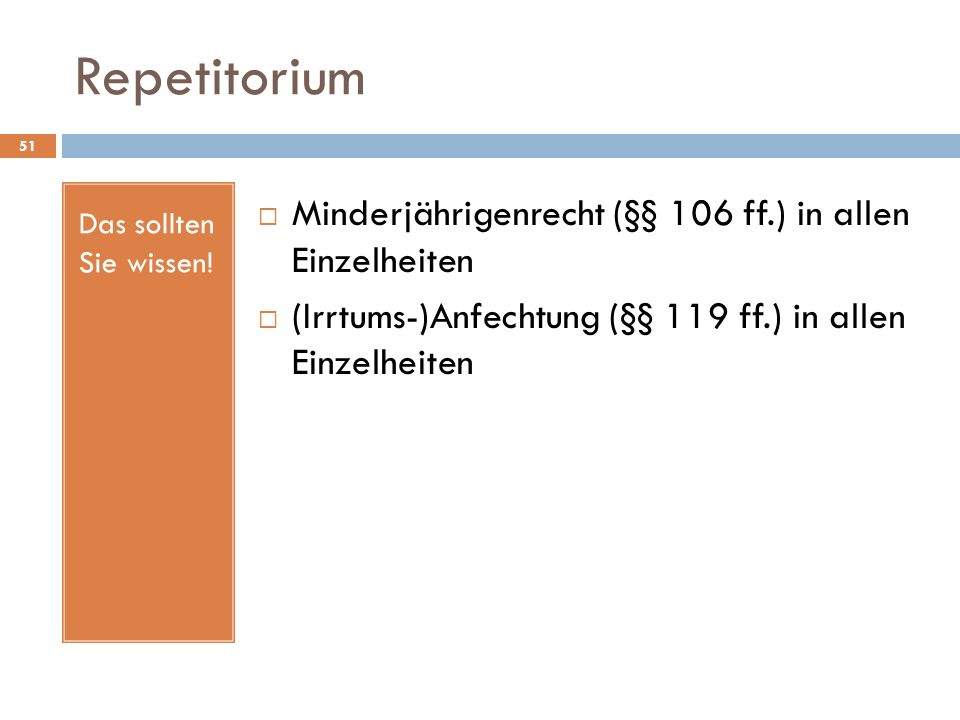 Repetitorium Minderjährigenrecht (§§ 106 ff.) in allen Einzelheiten