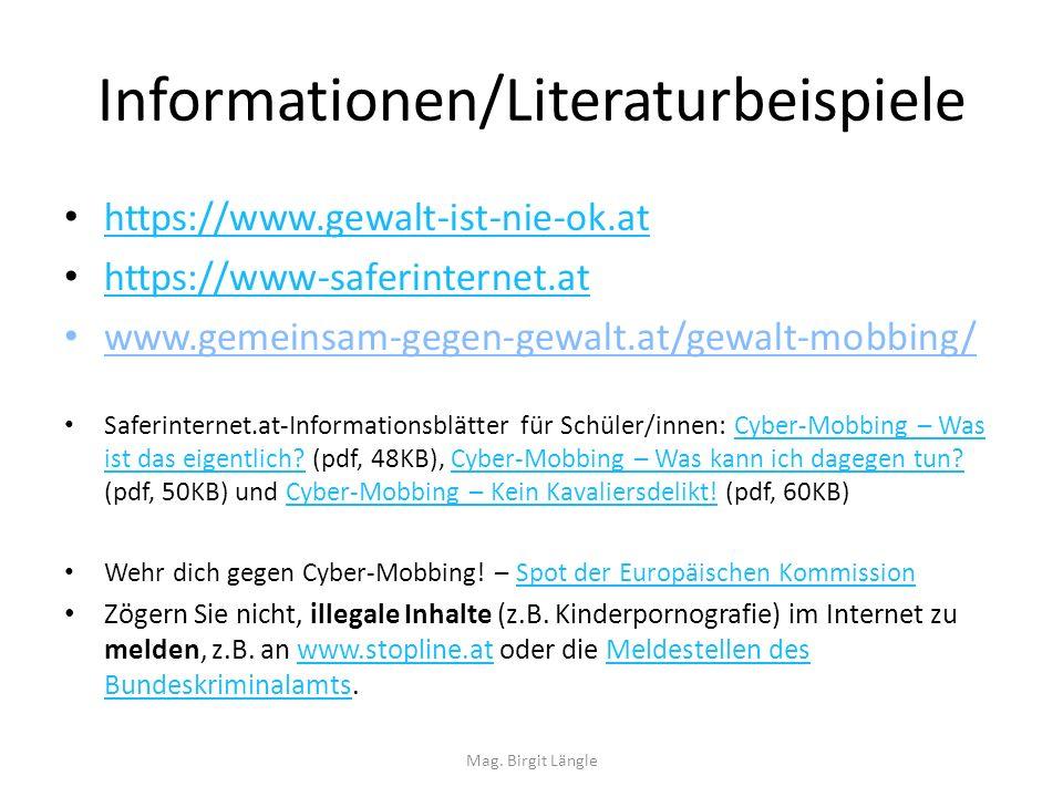 Informationen/Literaturbeispiele